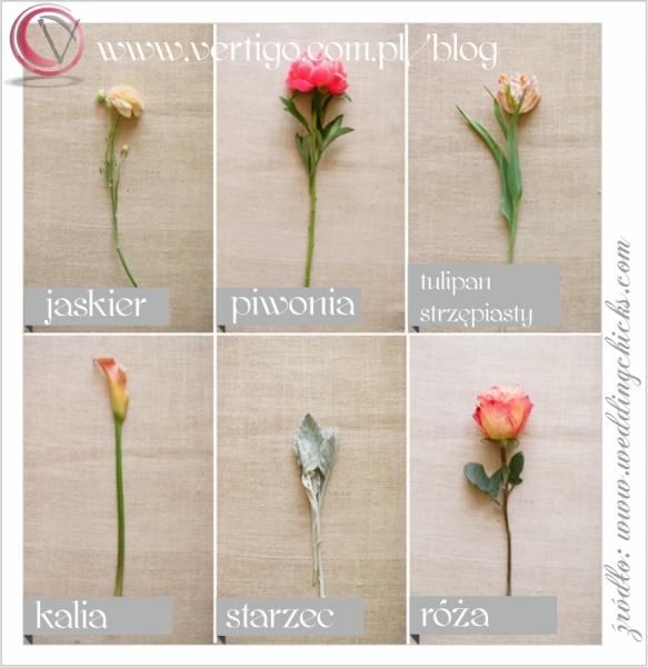 bukiet ślubny z piwonii i tulipanów