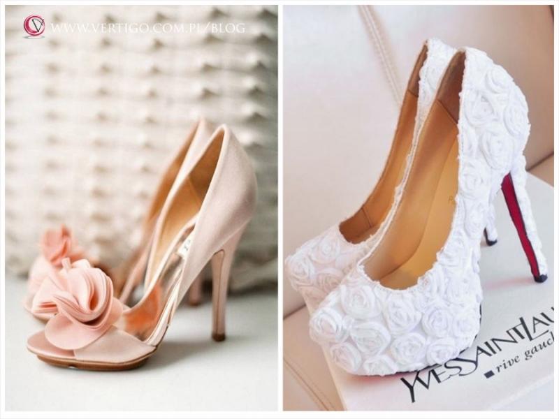 9a27d20f buty ślubne: Badgley Mischka i YSL (po prawej)