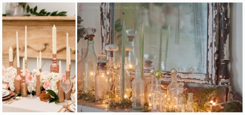 świeczniki z butelek