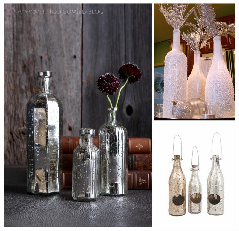 srebrne butelki